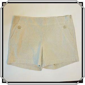 J CREW Flat Front Beige Shorts Size 2